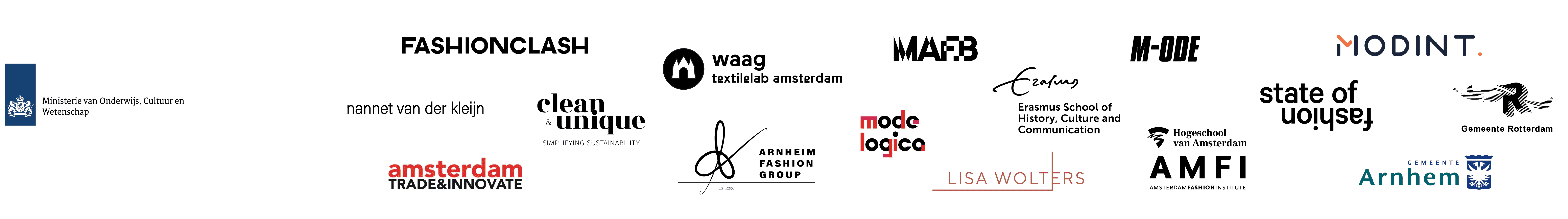 Organisation logos that started this project
